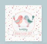 Cartão de papel do presente para o feriado de Chirstmas do aniversário do casamento