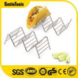 ステンレス鋼のタコスのホールダーの立場のメキシコ食糧ラックシェル