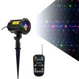 RGBの星のクリスマスのシャワーの庭のレーザー光線