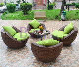 Im Freien kreativer Hauptfreiluftbalkon-Kaffee-Hotel-Freizeit PET Rattan-Tisch und Stuhl