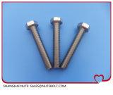 Boulon à tête hexagonale en acier inoxydable DIN933ANSI filetage complet M6X8...M6X200