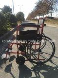 Barato, plegable, acero, sillón de ruedas manual