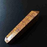 Da tubulação de seda dourada da mão do jade da tubulação da mão tubulação de fumo material natural de fumo