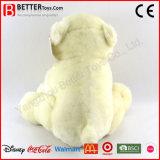 Jouet mou de peluche de peluche d'ours blanc de caresse pour des gosses de bébé