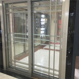 Portello scorrevole interno di vetro del doppio di alluminio del blocco per grafici di disegno della griglia