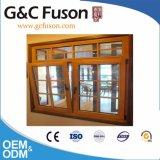 10 Jahre Garantiebrown-Farben-Doppelt-Glasaluminiumfenster-