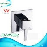 Diseño moderno de latón de dos funciones desviador oculta baño ducha mezclador