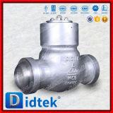 Задерживающий клапан качания сварное соединение встык сплава 1500lb Wc9 качества Didtek надежный стальной