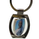 Metallo di timbratura rotondo su ordinazione Keychains per la promozione