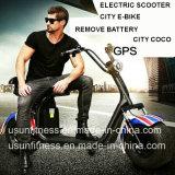 Dos quitan la batería para la motocicleta eléctrica de los Cocos de la ciudad de la vespa