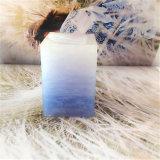 Suqare Schichten Trasparent Pfosten-Kerze mit Shrink-Satz