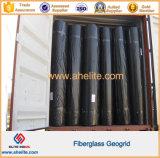 Calzada revestida Geogrid de la fibra de vidrio del betún