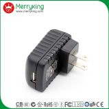 Port simple 5V 2A de support de mur nous chargeur portatif de la fiche USB