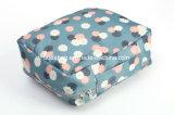 Saco cosmético do curso portátil de nylon floral da dobradura da tela do teste padrão (BDY-1709056)