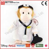 Angefüllte Tier-weicher Spielzeug-Plüsch-Doktor Monkey für Kind-Geschenk