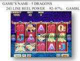 5 Dragones-243 la línea de alimentación del molinete - Juegos de Azar Máquinas de Juego Juego de Slot Machine
