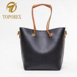 Professional Custom Lady PU sacola de bolsas de couro com logotipo Saco de ombro