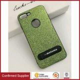 Caixas Shockproof do telefone do Glitter brilhante luxuoso com o Kickstand para o iPhone 7