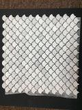 Llegada de más reciente de mármol Calacatta Oro Mosaico Fish-Scale en abanico