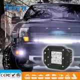 18W quadrato 4X4 fuori dal riflettore del supporto di rossoreare del lavoro della strada LED