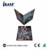 Новая конструкция для брошюры видеоего LCD книга в твердой обложке 6 дюймов