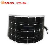 panneau solaire 100W Semi-Flexible monocristallin pour le toit de véhicule