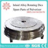Roterende Schijf met Ingelegde Legering voor Pulverizer Swfl110/130/150/170/van het Voer de Machine van het Malen