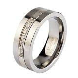 Ring van het Carbide van het Wolfram van Mens Zircon van de Juwelen van het Ontwerp van Whosale de recentste zeven-Stenen