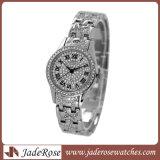 Las mujeres de lujo en bisel de cristal de cuarzo analógico de Pulsera Reloj de pulsera reloj de pulsera de moda vestidos damas