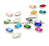 De modieuze Lange Achthoekige Toebehoren van het Glas DIY van de Tegenhanger van de Diamant van het Kristal voor de Toebehoren van de Kleding