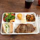Bandeja disponible biodegradable del alimento del papel del bagazo