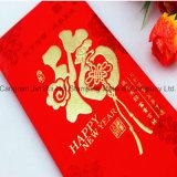 De Oro de la moda de la lámina de estampado en caliente para papel de la tarjeta de negocios Bolsa roja