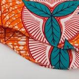 Le modèle 100% d'ODM a épuré le chemisier africain de dames de tissu de cire de chemise d'épanouissement de coton