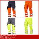 저가 안녕 힘 사려깊은 줄무늬 노동자 안전 제복 (W421)를 가진 주황색 일 바지