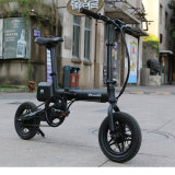 12 '' Aluminum Alloy Folded Electric Bike with Battery Lithium