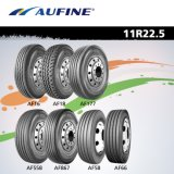 13r22.5, 295/80r22.5, 11r22.5, 12r22.5 및 385/65r22.5를 가진 Aufine TBR 타이어