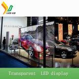Étalage d'écran transparent polychrome de DEL pour des façades de construction