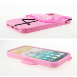 Caixa nova do telefone do flamingo do silicone do Quicksand do projeto para o iPhone 6/6s/7plus/X/8plus