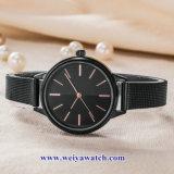 Custom Mesdames montres à quartz de cuir wist, femme de regarder en alliage (WY-17051)