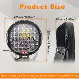 Impermeable negro y rojo 185W 4D 9pulgadas CREE LED de trabajo de protección IP67 de la luz de Offroad para camiones