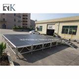 Canalisation verticale mobile en aluminium d'Adjutable d'étape avec le bordage pour l'événement