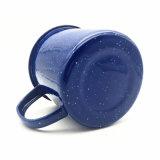 Tazza bianca delle tazze dello smalto del PUNTINO di colore blu, tazza di caffè dello smalto