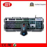 Матовый металлической панели Механические узлы и агрегаты проводной клавиатуры для игр &мышь Combo