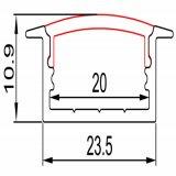Aluminium-LED Profil der Oberflächenmontierungs-für Streifen-Beleuchtung des Flexled