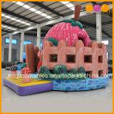 Salto inflable lindo de la gorila del castillo de la fresa de los juguetes de la muchacha y del aire de la diapositiva para la venta (AQ01672)
