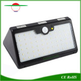 Sensor de infrarrojos de movimiento de pared de luz solar ABS con 66 LED