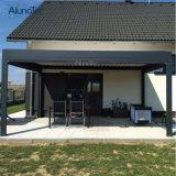 Tipo de jardín de aluminio resistente al agua motorizado Pérgola Gazebo