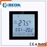 Vier Hintergrundbeleuchtung-Raum-Thermostat mit drei Fühler-Modell-Innentemperatursteuereinheit