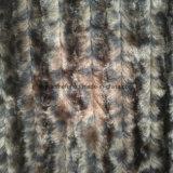 Tessuto della pelliccia artificiale della pelliccia del Faux della pelliccia di falsificazione della pelliccia del jacquard di disegno del leopardo