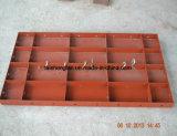 Formas del muro de cemento del andamio del diseño en el concreto que forma sistemas